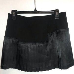 BCBG asymmetrical Pleated Lined miniskirt 6 NWOT